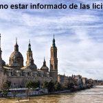 Cómo estar informado de las licitaciones de Zaragoza