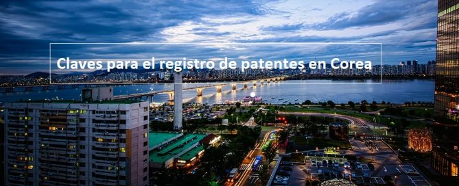 registrar patentes en Corea