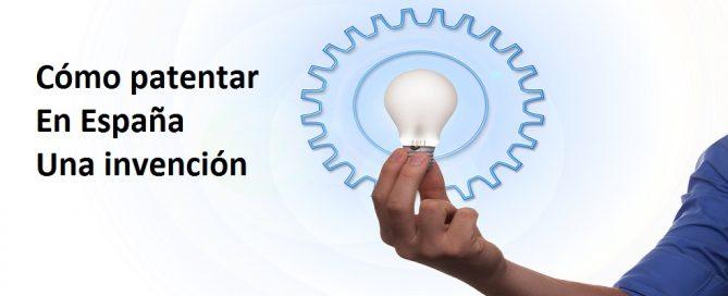 patentar en España una invención