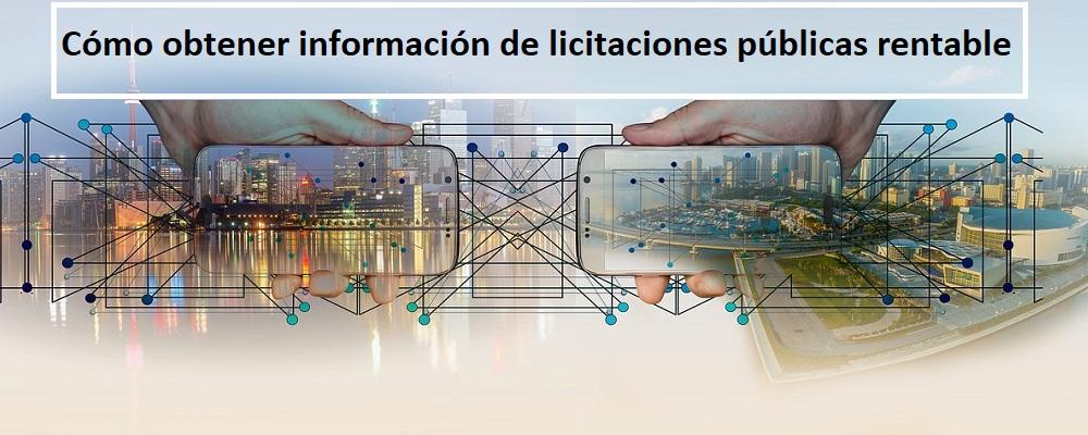 información de licitaciones públicas